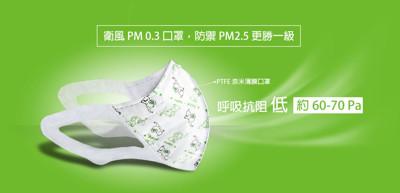 衛風PM0.3 3D奈米薄膜科技口罩(千象-10入/組) (9折)
