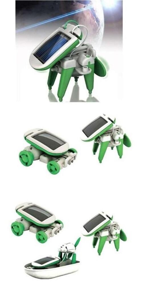 阿莎力 太陽能 6合1 玩具 diy拼裝益智 新奇玩具 好玩