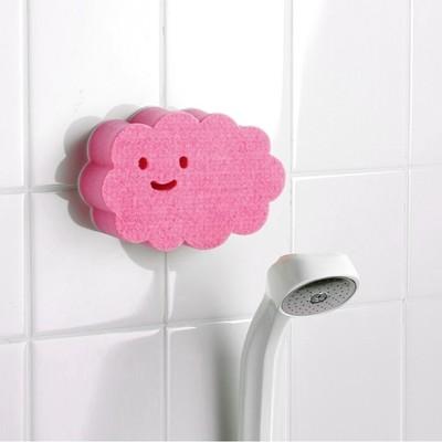 [2入組] 日本製造AISEN黏貼式大片雲朵浴室海綿刷 (8.2折)
