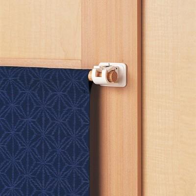 日本LEC黏貼式窗簾桿專用掛勾(3包6枚組) (7.1折)
