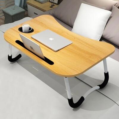 【無抽屜+有杯架】折疊桌懶人桌 折疊小桌子 懶人床上桌 床上書桌 床上桌 書桌 折疊電腦桌 摺疊桌