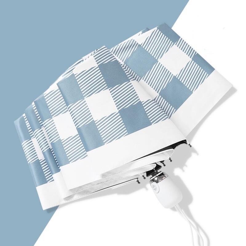 24小時出貨 英倫風 格子 抗uv黑膠傘 手動傘 自動傘 雨傘 快乾傘 陽傘 大傘面 折疊傘