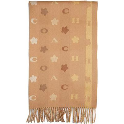 COACH 女士LOGO羊毛圍巾 4623 奶茶色 (現貨) (6.6折)