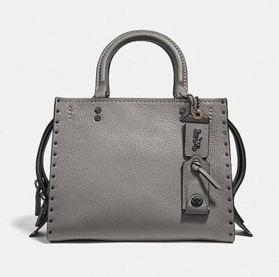 【COACH】 F30456 女士鉚釘ROGUE 25手袋 (4.5折)