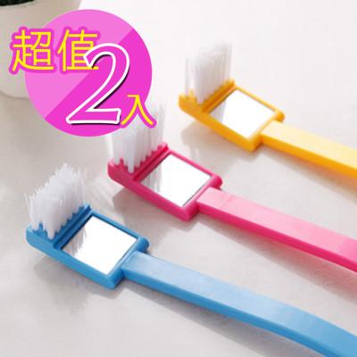 【inBOUND】日式附鏡便利馬桶刷2入(隨機出貨)IB004 (1折)