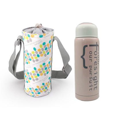 【I Do】304不鏽鋼真空保溫杯提袋組300ml-粉紅 CL-0030 (6折)
