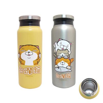 白爛貓 580ml內膽304不鏽鋼真空保溫保冷瓶 LN-60 (6.5折)
