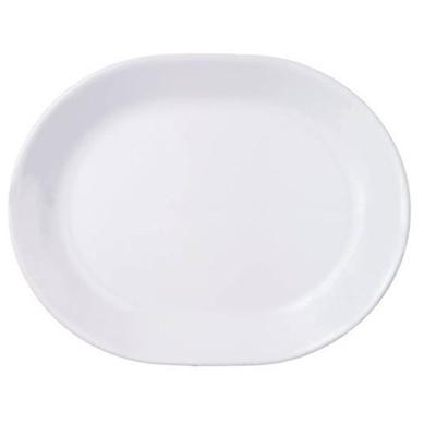 美國康寧餐具12.5吋平腰子盤 純白 (6.4折)
