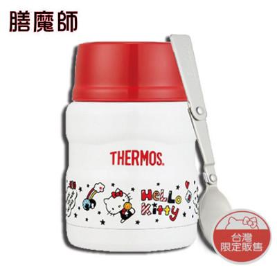 膳魔師 Hello Kitty(快樂篇)不銹鋼真空食物燜燒罐(附湯匙)SK3000KT-WH (7.6折)