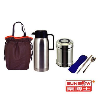 秦博士 高真空保溫瓶+悶燒罐+餐具包+提袋SYD100A+SGB500+SCB582N+BA2711 (7.1折)