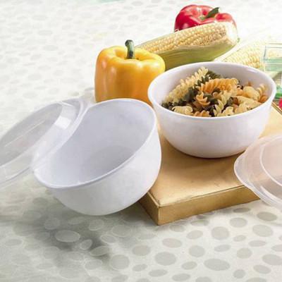 美國康寧900cc拉麵碗附微波保鮮蓋 2件組 純白 (7.6折)