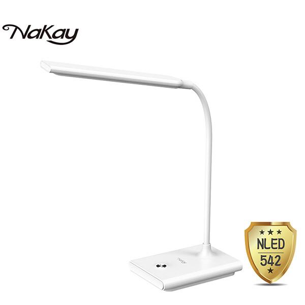 免運 nakay 充電式無段調光led檯燈3000mah nled-542