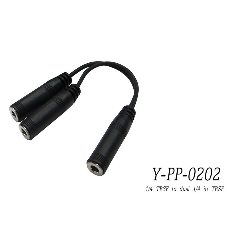 唐尼樂器台製 stander y-pp-0202 6.3mm 立體聲母頭轉 兩個 6.3mm