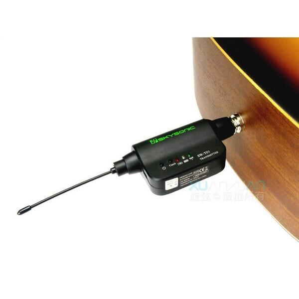 skysonic tr01 民謠吉他 無線導線 無線收發器[唐尼樂器] - 圖片色
