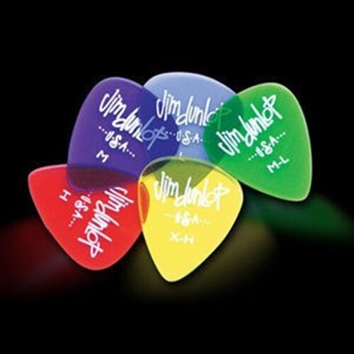 dunlop gels 烏克麗麗/古典吉他/木吉他/民謠吉他/電吉他用 pick 透明彈片標準款
