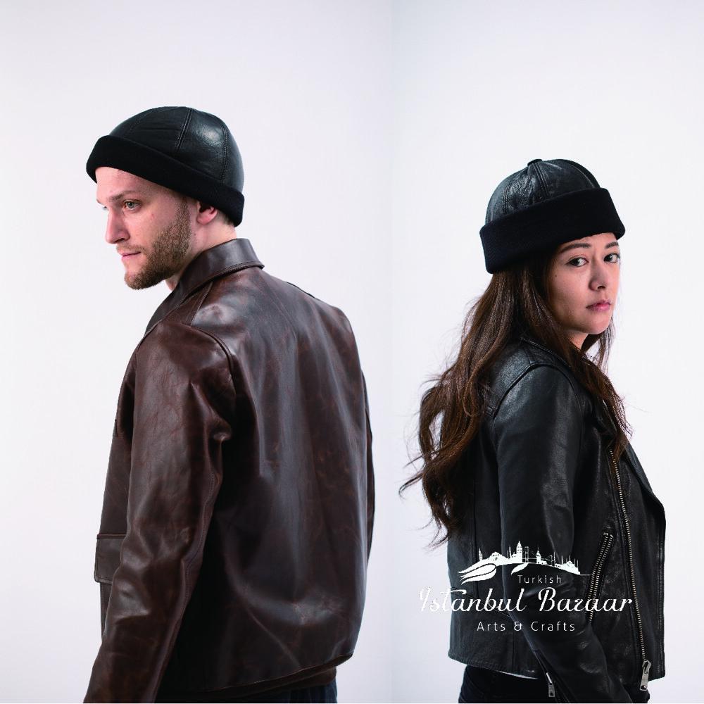 羊皮包暖毛帽 男女款 羊毛內裡 經典皮革款 質感老帽 文青款