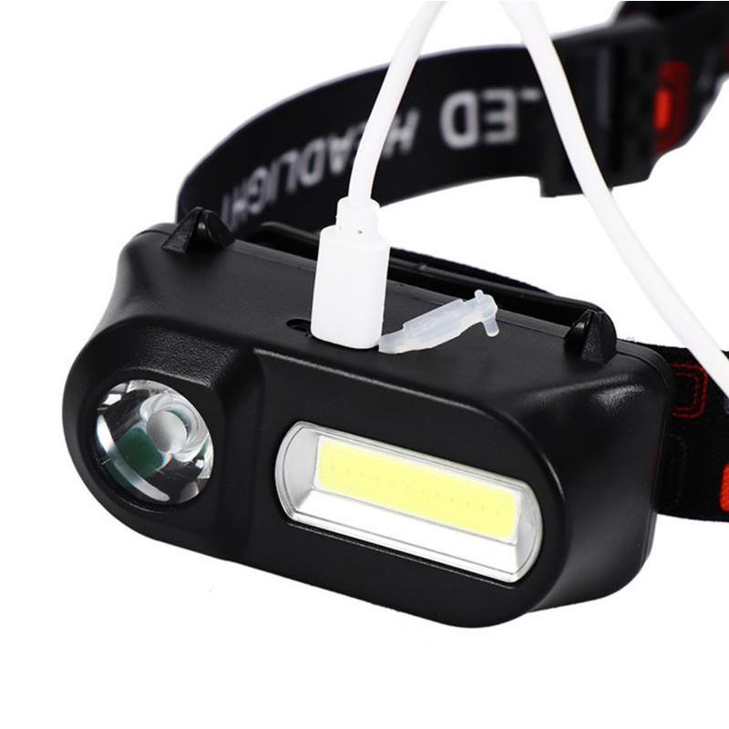 充電式頭燈r2+cob 輕便款頭燈 有感應功能 釣魚燈 登山燈