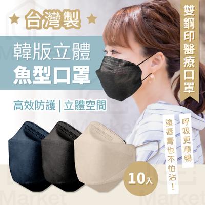【台灣🇹🇼醫療雙鋼印】KF醫療口罩 韓版3D全包覆口罩 魚嘴口罩 KF94