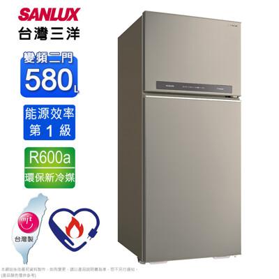SANLUX台灣三洋1級能效580公升直流變頻雙門冰箱SR-C580BV1A~含拆箱定位 (6.9折)