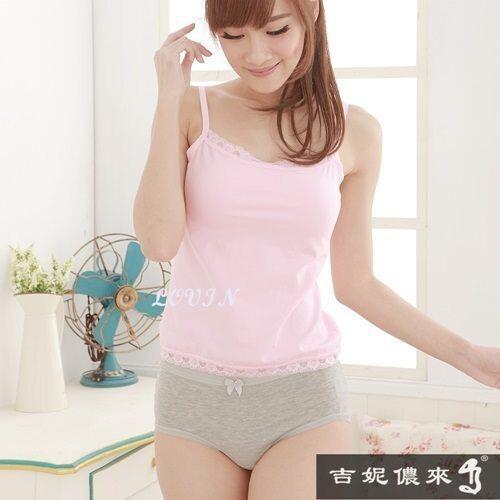 吉妮儂來舒適氣質純棉中低腰素面生理褲(6件組/隨機取色)