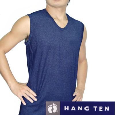 【HANG TEN】精典時尚型男彩色羅紋寬肩背心(隨機取色) (1折)
