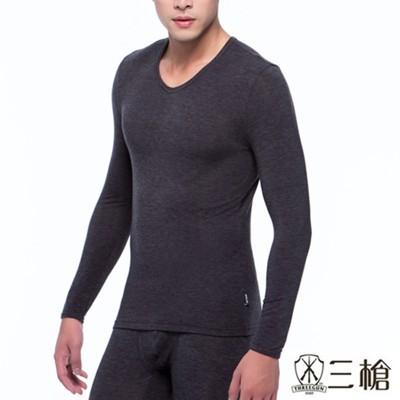 【三槍牌】時尚經典型男圓領Q-HEAT超彈性長袖發熱衣 (3.5折)