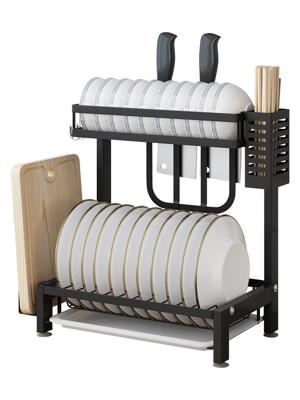 (全套組) 304不鏽鋼加厚款雙層碗盤瀝水收納架/置物架 (5折)