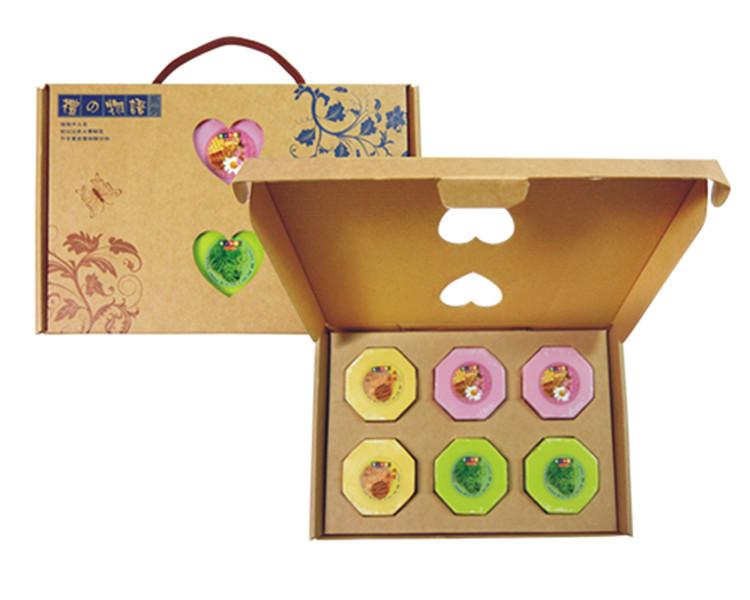 手工皂禮盒(6入加精緻手工盒含提繩)