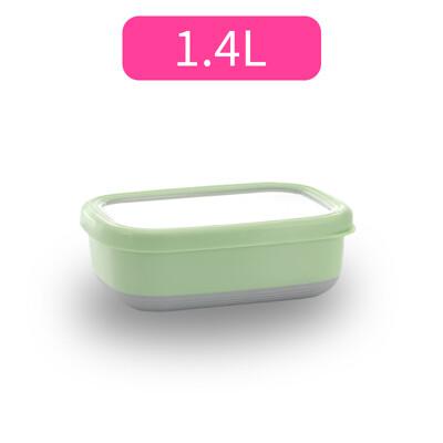 304不鏽鋼北歐長方型附蓋保鮮盒隔熱碗-1.4L (7.6折)