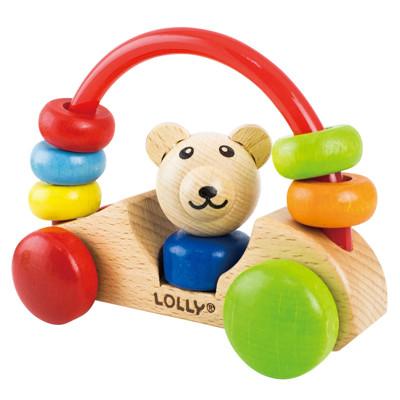 【優生】 LOLLY木製玩具-小熊號快樂車 -寶寶互動玩具/手搖鈴/木質玩具 DG80004 (9.8折)