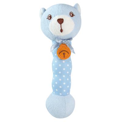 【優生】棒棒搖鈴-小熊(藍)-寶寶手搖鈴/音樂鈴/益智玩具/幼兒學習發展 u1205404B (9折)