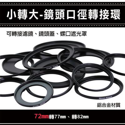 通用副廠配件小轉大-鏡頭口徑轉接環 72mm 轉 77/82mm (3.9折)