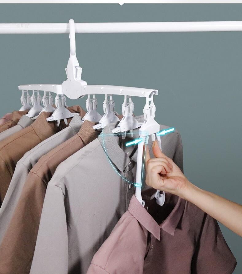 多功能折疊魔術衣架衣服收納神器晾衣架