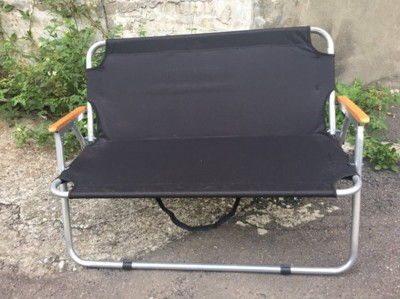 推廣促銷價雙人椅折疊椅情人椅 露營戶外牛津布長凳休閒用品 (8.4折)