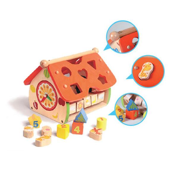 目川文化數字形狀積木小屋
