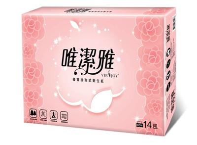 唯潔雅優質抽取式衛生紙100抽x112包/箱 (4.8折)