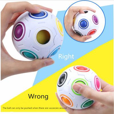 Magic ball減壓魔力彩虹球創意足球益智減壓玩具 (4折)