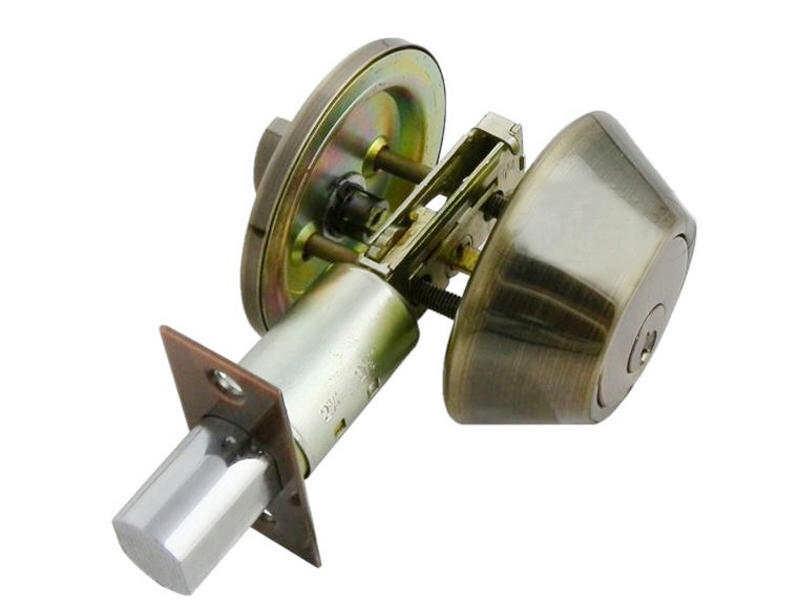 d101-ab 青古銅 (60mm扁平鑰匙)補助鎖 防盜鎖 適用 鋁 硫化銅門 木門 大門