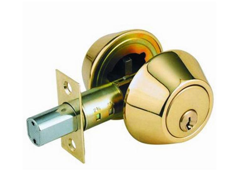 d101-pb 金色 (60mm扁平鑰匙) 輔助鎖 防盜鎖