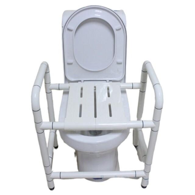 無障礙坐便洗澡兩用 洗澡椅 免打孔馬桶扶手 ib009 -兩板可開