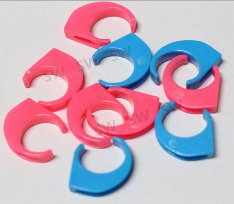 a081防風扣環-100入 適用30mm衣桿 防風夾 防風衣架掛鉤 天藍/粉紅 曬衣架專用防風扣