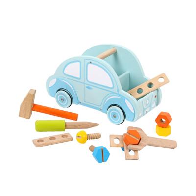 台灣【Mentari木頭玩具】小工匠工具小車車 (8折)