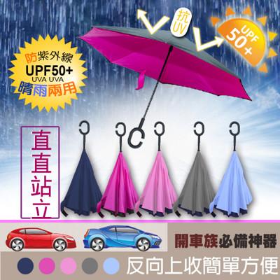 2016新款無敵C型手把防潑水抗UV反向傘 (3.2折)