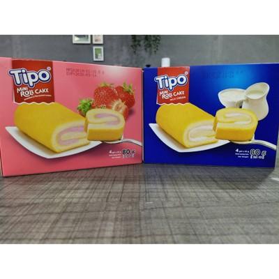 tipo牛奶口味瑞士捲/草莓口味瑞士捲  80g(小)盒 (6.7折)