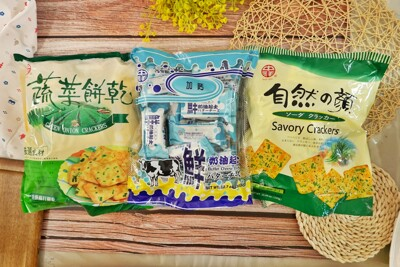中祥餅乾量販包任選(鮮奶油起士餅 紫菜蘇打餅 蔬菜蘇打餅 ) 1包 (4.6折)
