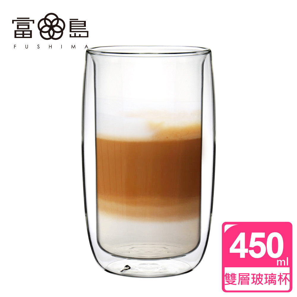 fushima 富島英倫系列雙層耐熱玻璃杯450ml