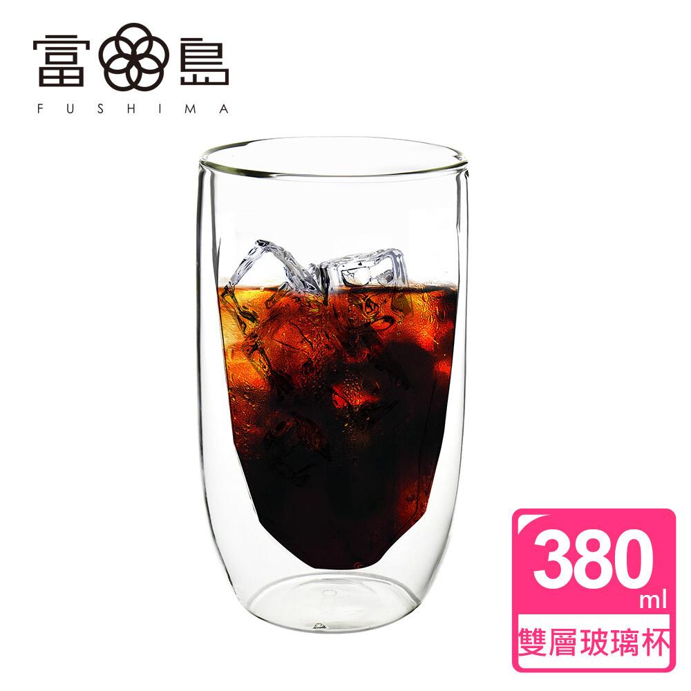 fushima 富島冰裂系列雙層耐熱玻璃杯380ml