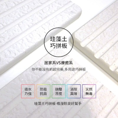 台灣製珪藻土巧拼板【1盒2片】 (4.4折)