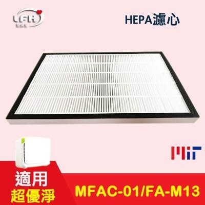 hepa濾心+活性碳濾網適用 3m 淨呼吸超優淨 fa-m13 m13-orf mfac-01f (6.2折)
