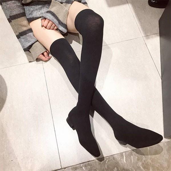 襪靴-韓國新款超彈力修飾顯瘦過膝襪靴 長靴 過膝靴 膝上靴an shop